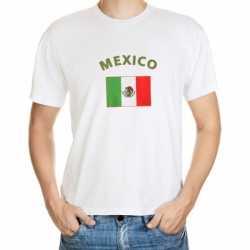 Wit t-shirt Mexico volwassenen