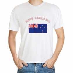 Wit t-shirt Nieuw Zeeland volwassenen