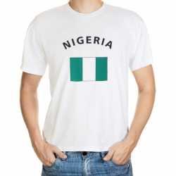 Wit t-shirt Nigeria volwassenen
