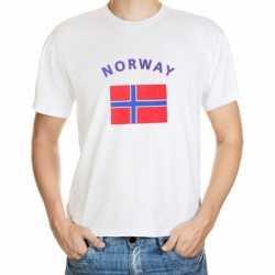 Wit t-shirt Noorwegen volwassenen