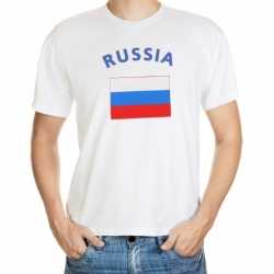 Wit t-shirt Rusland volwassenen