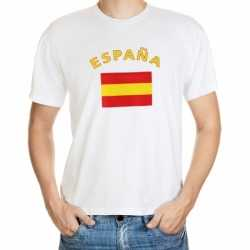 Wit t-shirt Spanje volwassenen