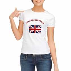 Wit t-shirt United Kingdom dames