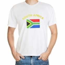 Wit t-shirt Zuid Afrika volwassenen