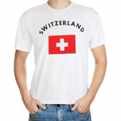 Wit t-shirt Zwitserland volwassenen