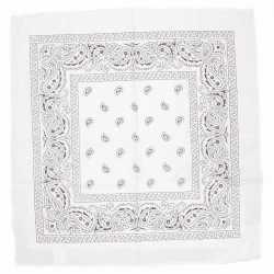Witte bandana zakdoek 55 bij 55