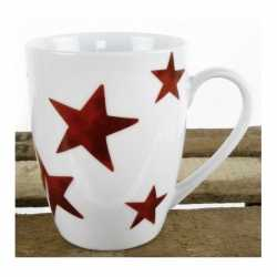 Witte beker rode sterren