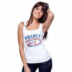 Witte dames tanktop Frankrijk