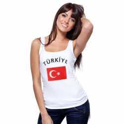 Witte dames tanktop Turkije