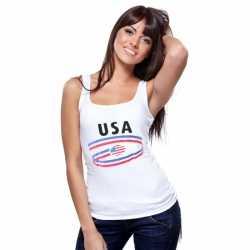Witte dames tanktop USA