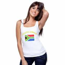 Witte dames tanktop Zuid-Afrika