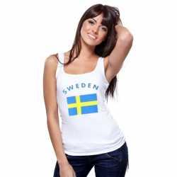Witte dames tanktop Zweden