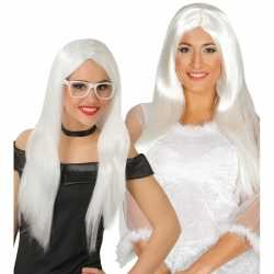 Witte engelen pruik dames