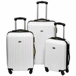 Witte grote reiskoffer 66