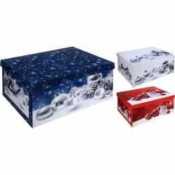 Witte kerstballen/kerstversiering opbergbox 49