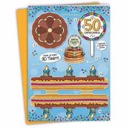 Xxl sarah verjaardagskaart 35 bij 49