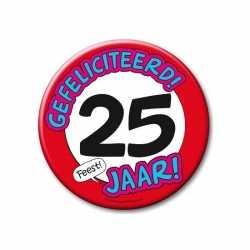 XXL verjaardags button 25 jaar