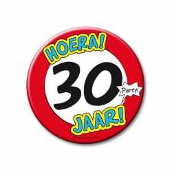 XXL verjaardags button 30 jaar