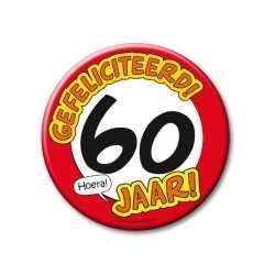 XXL verjaardags button 60 jaar