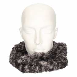 Zachte col sjaal grijs/luipaard volwassenen