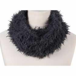 Zachte col sjaal grijs volwassenen