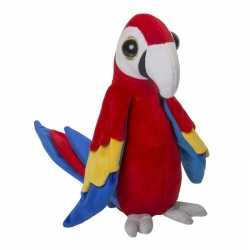 Zachte pluche papegaai knuffel rood 25