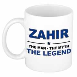 Zahir the man, the myth the legend cadeau koffie mok / thee beker 300 ml