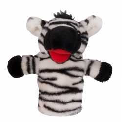 Zebra handpop pluche 23
