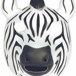 Zebra masker van soft foam