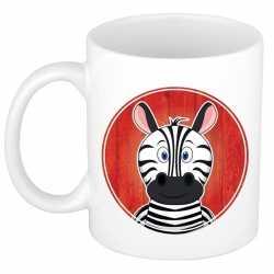 Zebra mok / beker kinderen 300 ml