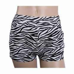 Zebra print hotpants dames