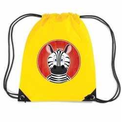 Zebra rugtas / gymtas geel kinderen
