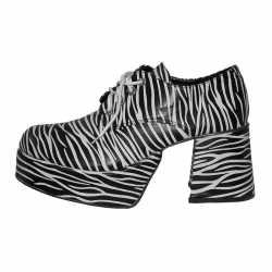 Zebra schoen plateau-zolen