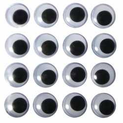 Zelfklevende wiebel oogjes 15 mm