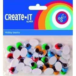 Zelfklevende wiebelogen gekleurde wimper 40 stuks