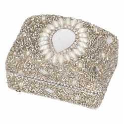 Zilver bewaardoosje oriental rechthoek 8
