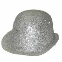 Zilver bolhoedje glitters