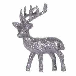 Zilver deco rendier glitters 10