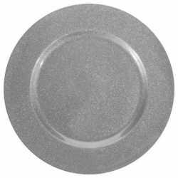 Zilver onderzet bord glitters