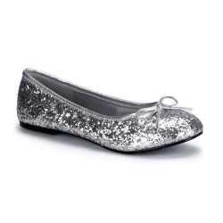 Zilveren ballerina schoenen glitters