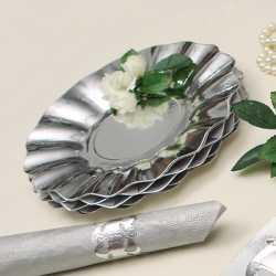 Zilveren diepe bordjes 21