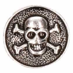 Zilveren doodshoofd chunk 1,8