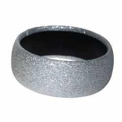 Zilveren glitter armband
