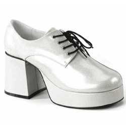Zilveren glitterschoenen heren