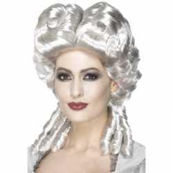 Zilveren keizerin pruik dames