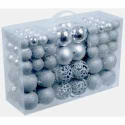 Zilveren kerstballen 100 stuks