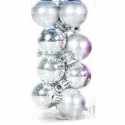 Zilveren kerstballen 12 stuks 3
