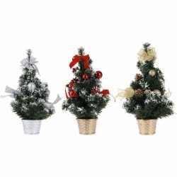 Zilveren kerstboom decoratie 40