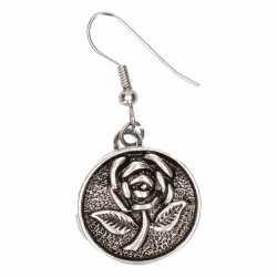 Zilveren oorbellen roos chunks