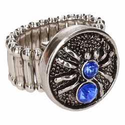 Zilveren ring blauwe spin chunk